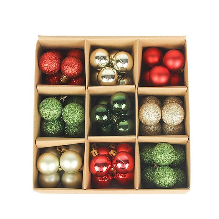 Набор елочных шариков 3 см (54 шт) - 000105А