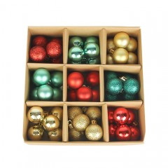 Набір ялинкових кульок 3 см (54 шт) - 000105B