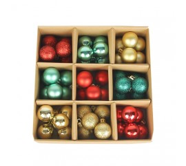 Набор елочных шариков 3 см (54 шт) - 000105B