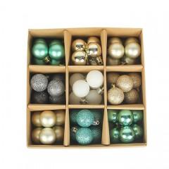 Набір ялинкових кульок 3 см (54 шт) - 000105С