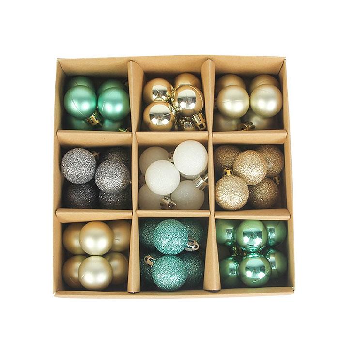 Набор елочных шариков 3 см (54 шт) - 000105С