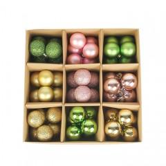 Набір ялинкових кульок 3 см (54 шт) - 000105F