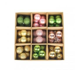 Набор елочных шариков 3 см (54 шт) - 000105F
