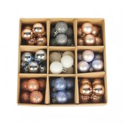 Набір ялинкових кульок 3 см (54 шт) - 000105Е
