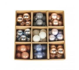 Набор елочных шариков 3 см (54 шт) - 000105Е
