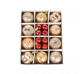 Набор елочных шариков 3 см и 6 см - золото