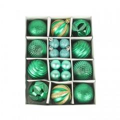 Набір ялинкових кульок 3 см і 6 см - зелений