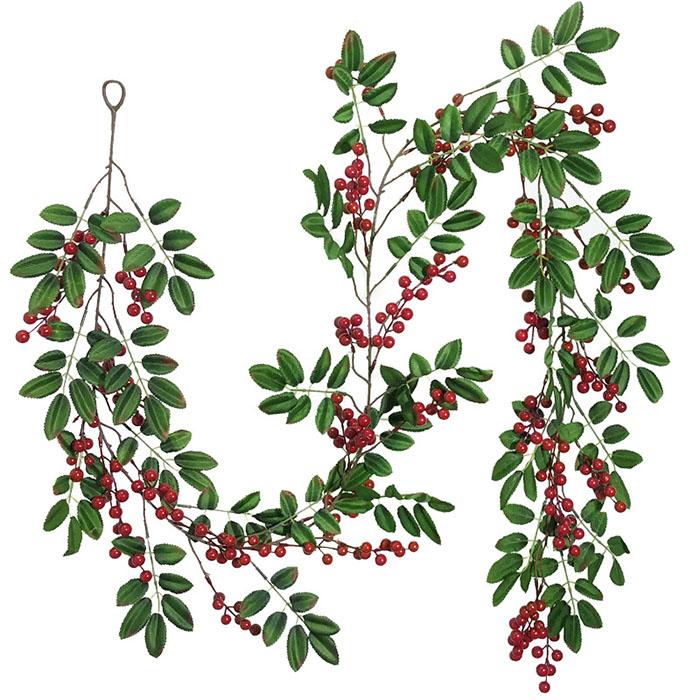 """Лиана """"Рябина с ягодками"""" 195 см"""