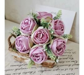 Букет связка роз сиреневые 29 см
