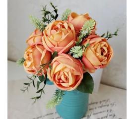 Букет связка роз оранжевые 29 см