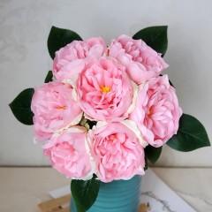 Букет связка пионов 25 см - розовые