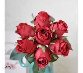 """Букет связка """"Розы в бутоне"""" 25 см - красные"""