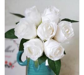 """Букет связка """"Розы в бутоне"""" 25 см - белые"""
