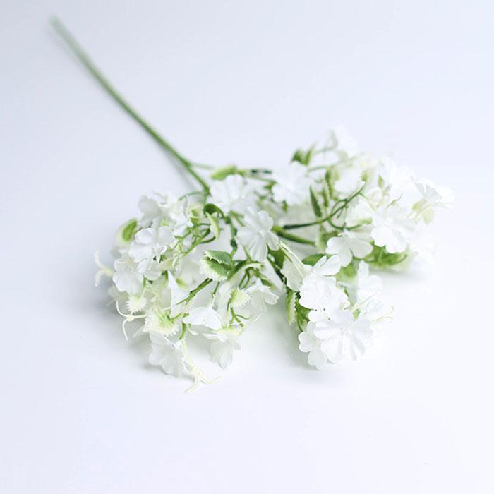 """Веточка """"Незабудка"""" белая 60 см"""