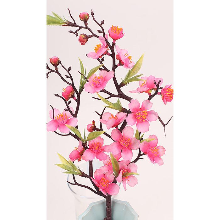 Ветка сакура 56 см темно-розовая