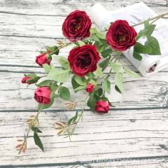 Ветка розы 100 см - красная