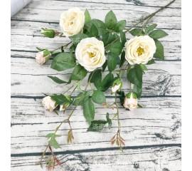 Ветка розы 100 см - кремовая