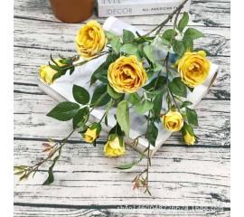 Ветка розы 100 см - желтая