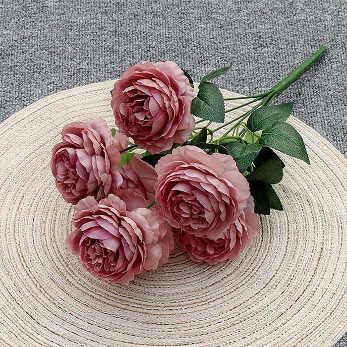 """Букет роз """"Анна"""" 40 см - пурпурный"""
