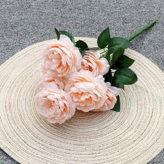 """Букет роз """"Анна"""" 40 см - нежно-персиковый"""
