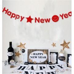 "Растяжка ""Happy New Year"" красная"