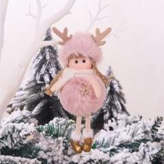 """Подвеска """"Куколка в шапке с рожками"""" розовая"""