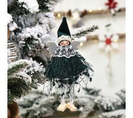 Подвеска куколка темно-зеленая
