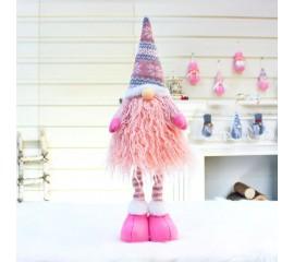 """Игрушка """"Розовый гном"""" с розовой бородой"""
