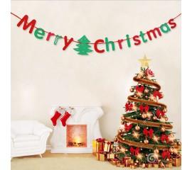 """Растяжка """"Merry Christmas"""" красно-зеленая"""