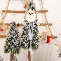 """Новогодняя подвеска """"Сова меховая"""" белая"""