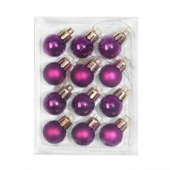 Новорічні кульки 2 см - фіолет
