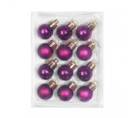 Новогодние шарики 2 см - фиолет
