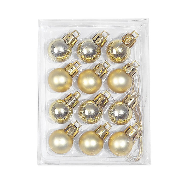 Новогодние шарики 2 см - золото