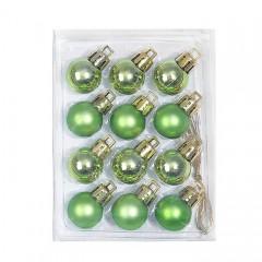 Новорічні кульки 2 см - зелені
