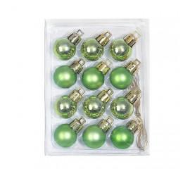 Новогодние шарики 2 см - зеленые