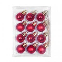 Новорічні кульки 2 см - червоні