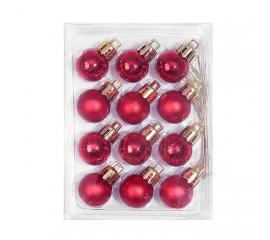 Новогодние шарики 2 см - красные