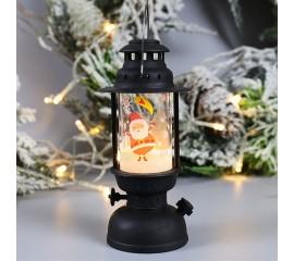 """Новогодняя керосиновая лампа со свечей """"Санта"""""""