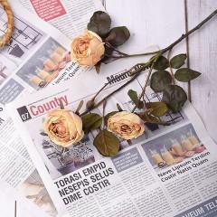 """Гілка троянда """"Вінтаж"""" - темно-персикова"""