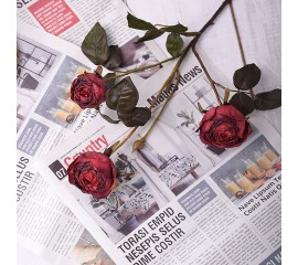 """Ветка роза """"Винтаж"""" - красная"""