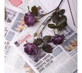 "Ветка роза ""Винтаж"" - фиолет"