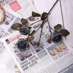 """Гілка троянда """"Вінтаж"""" - синьо-чорна"""