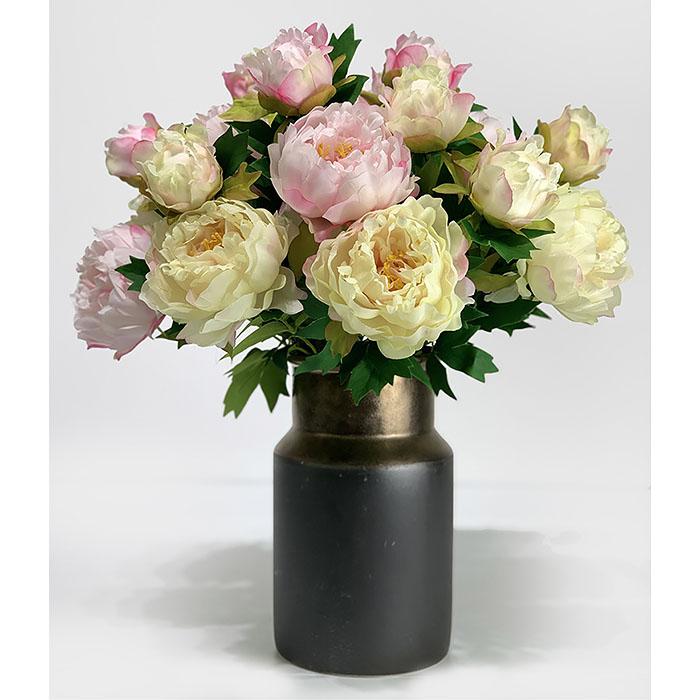 Ветка пион с бутоном нежно-розовый