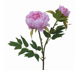 Ветка пион с бутоном розовый