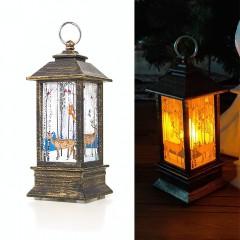 """LED ліхтарик зі свічок бронза """"Олені"""" 13 см"""