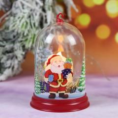 """Підсвічник """"Колба зі свічкою - Санта"""""""