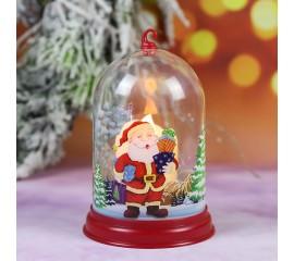 """Подсвечник """"Колба со свечей - Санта"""""""