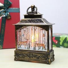 """Ліхтар зі свічкою бронза """"Олені"""""""