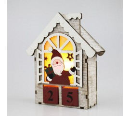 """Адвент-календарь с подсветкой """"Санта"""""""