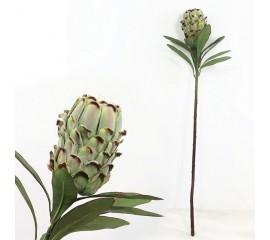 "Ветка цветок ""Протея"" зеленая 72 см"